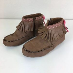 Hanna Andersson Girls 'Erika' Moccasin Booties
